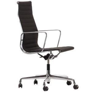 Vitra Aluminium Chair Ea 119 Tuoli Kromi Musta / Ruskea